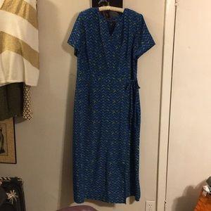 Lane Bryant Short Sleeve Chevron Print Dress